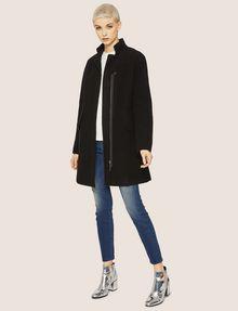 ARMANI EXCHANGE WOOL-BLEND STAND COLLAR COAT Coat Woman d