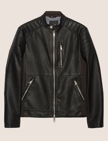 ARMANI EXCHANGE CHANNEL-QUILTED MOTO JACKET Blouson Jacket [*** pickupInStoreShippingNotGuaranteed_info ***] r