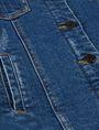 ARMANI EXCHANGE GIRLS FAUX-SHERPA LONGLINE TRUCKER Denim Jacket [*** pickupInStoreShipping_info ***] e
