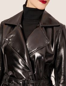ARMANI EXCHANGE PATENT DOUBLE-BREASTED TRENCH COAT Trench coat Woman b