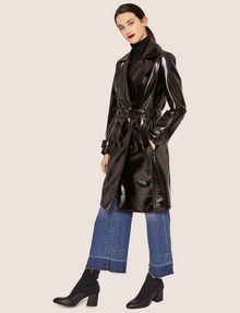 ARMANI EXCHANGE PATENT DOUBLE-BREASTED TRENCH COAT Trench coat Woman d