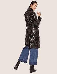 ARMANI EXCHANGE PATENT DOUBLE-BREASTED TRENCH COAT Trench coat Woman e
