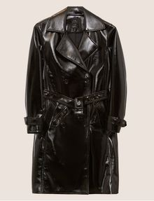 ARMANI EXCHANGE PATENT DOUBLE-BREASTED TRENCH COAT Trench coat Woman r