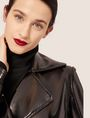 ARMANI EXCHANGE PATENT DOUBLE-BREASTED TRENCH COAT Trench coat Woman a