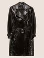 ARMANI EXCHANGE PATENT DOUBLE-BREASTED TRENCH COAT Trench coat [*** pickupInStoreShipping_info ***] r