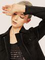 ARMANI EXCHANGE FAUX-SUEDE TRUCKER JACKET Blouson Jacket Woman a