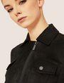 ARMANI EXCHANGE FAUX-SUEDE TRUCKER JACKET Blouson Jacket Woman b