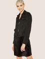 ARMANI EXCHANGE FAUX-SUEDE TRUCKER JACKET Blouson Jacket Woman f