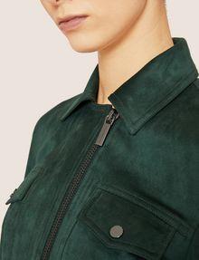 ARMANI EXCHANGE FAUX-SUEDE TRUCKER JACKET Blouson Jacket [*** pickupInStoreShipping_info ***] b