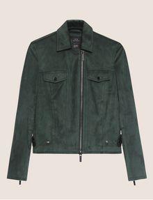 ARMANI EXCHANGE FAUX-SUEDE TRUCKER JACKET Blouson Jacket Woman r