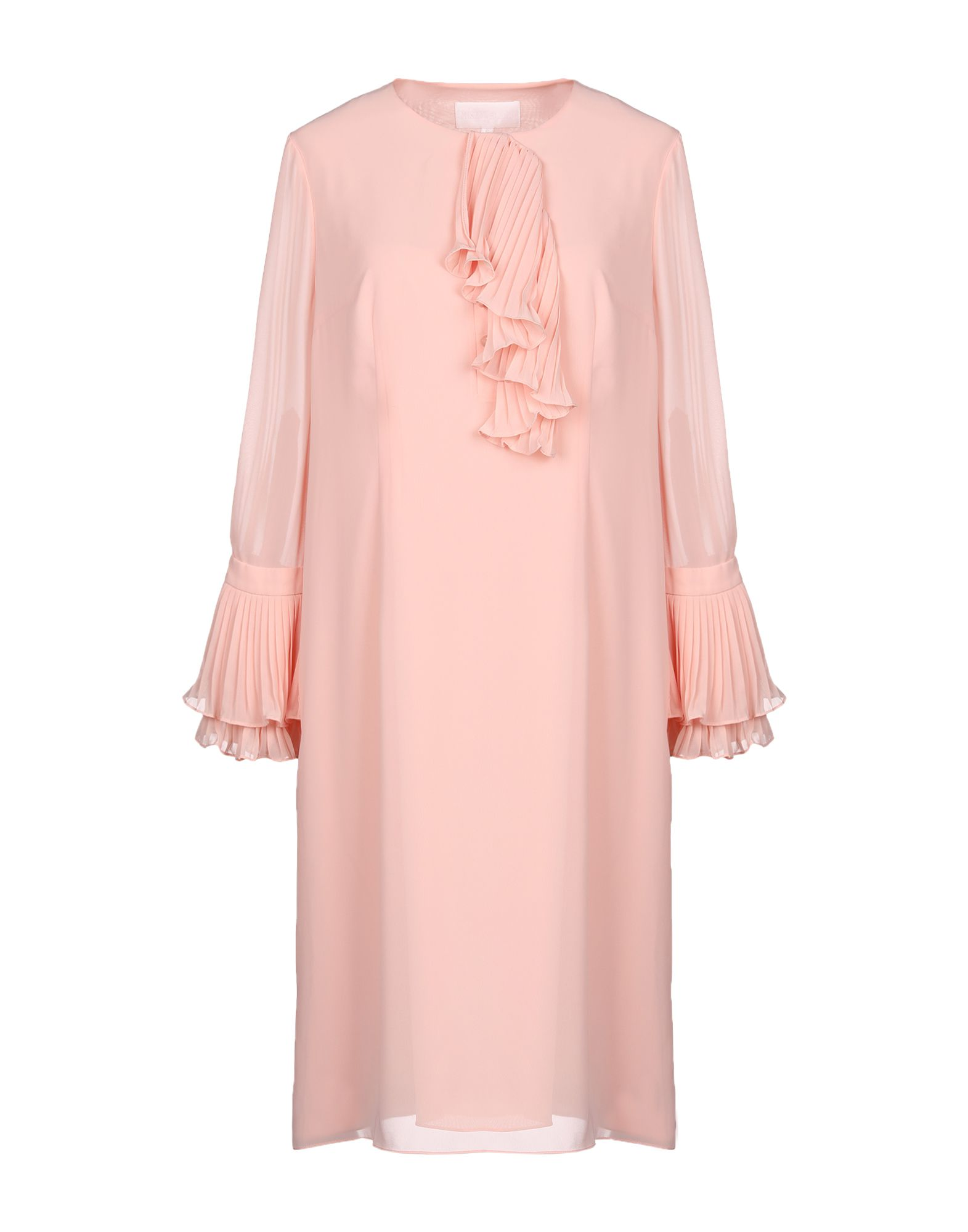 MIKAEL AGHAL Knee-Length Dresses in Salmon Pink