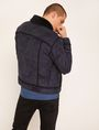 ARMANI EXCHANGE FAUX SHEARLING TRUCKER JACKET Blouson Jacket Man e