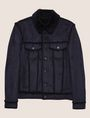 ARMANI EXCHANGE FAUX SHEARLING TRUCKER JACKET Blouson Jacket Man r
