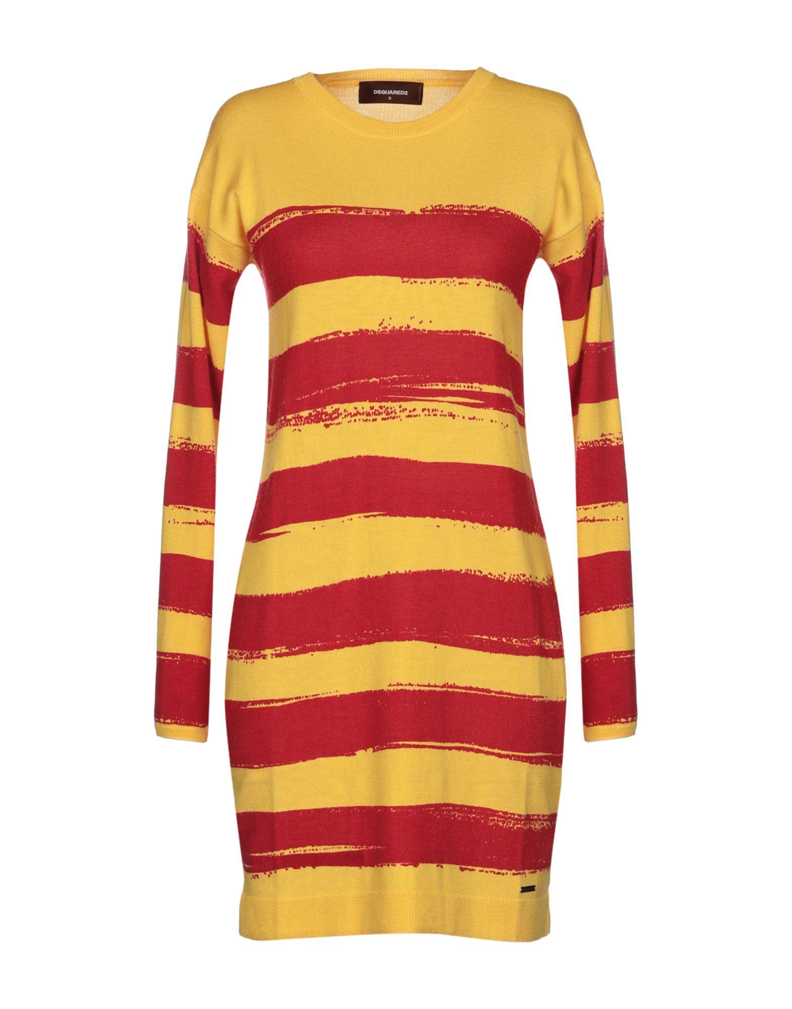 DSQUARED2 Damen Kurzes Kleid Farbe Gelb Größe 5