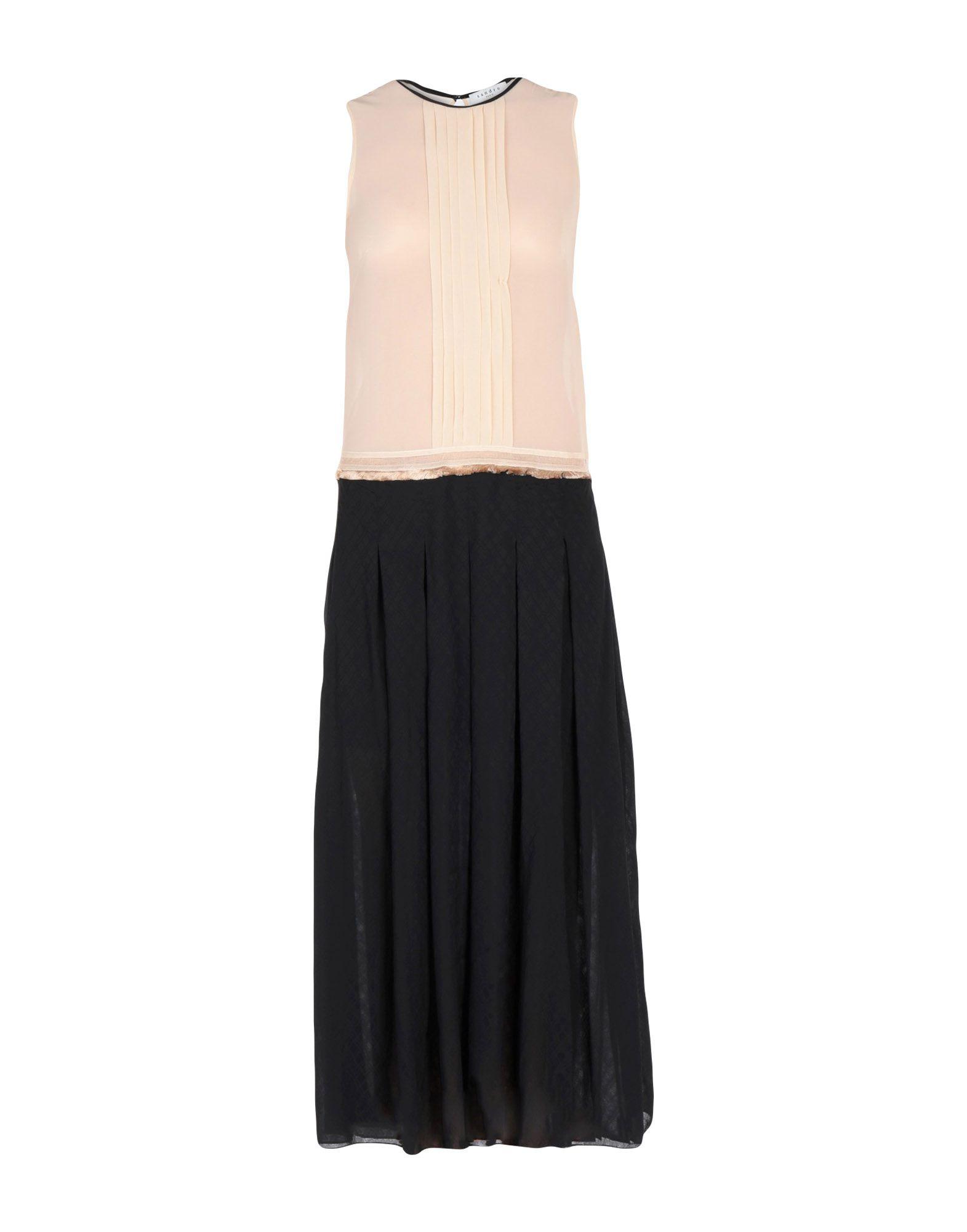 SANDRO Платье длиной 3/4 sandro джинсовая юбка с декоративной шнуровкой page 3