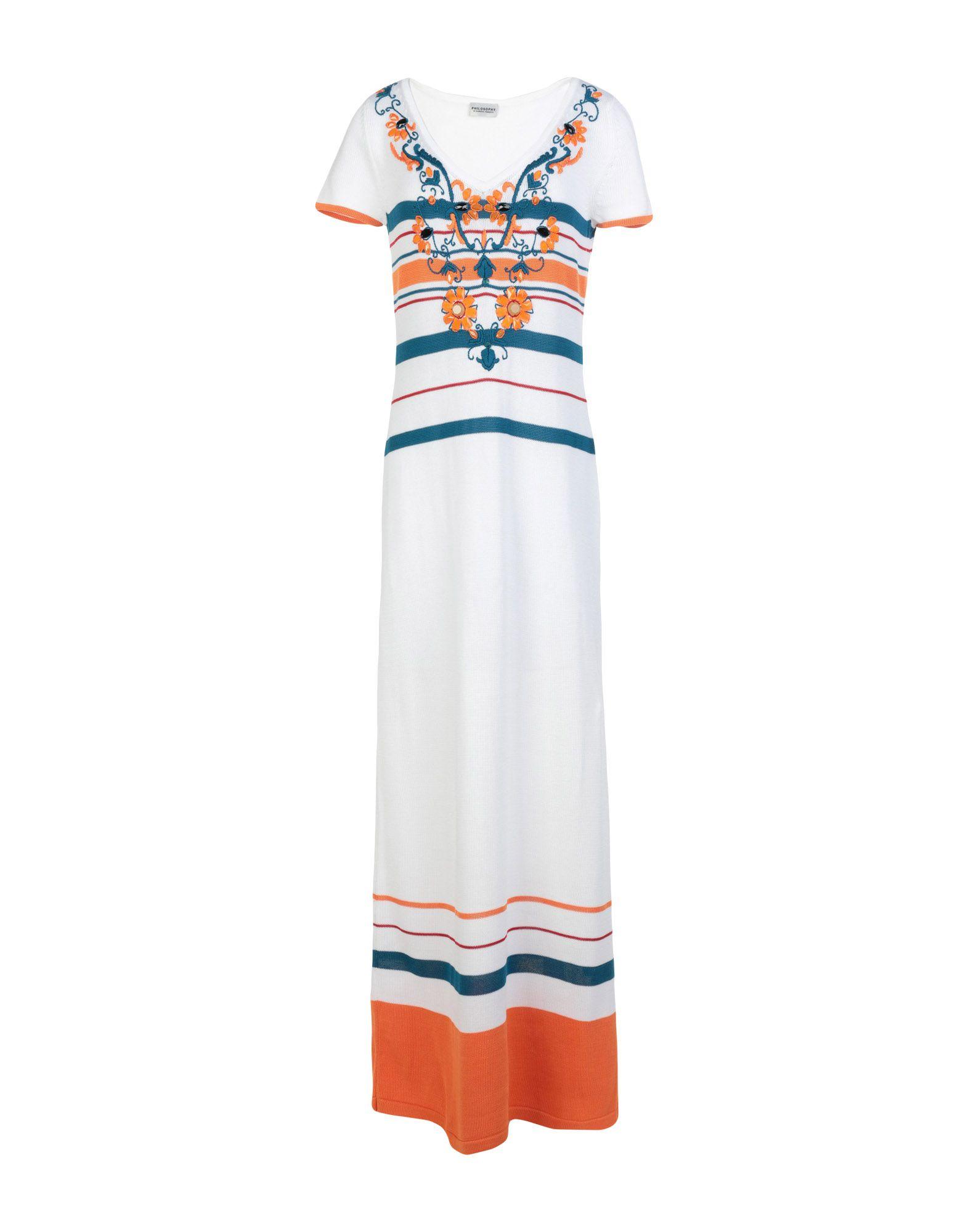 PHILOSOPHY di ALBERTA FERRETTI Длинное платье цена 2017