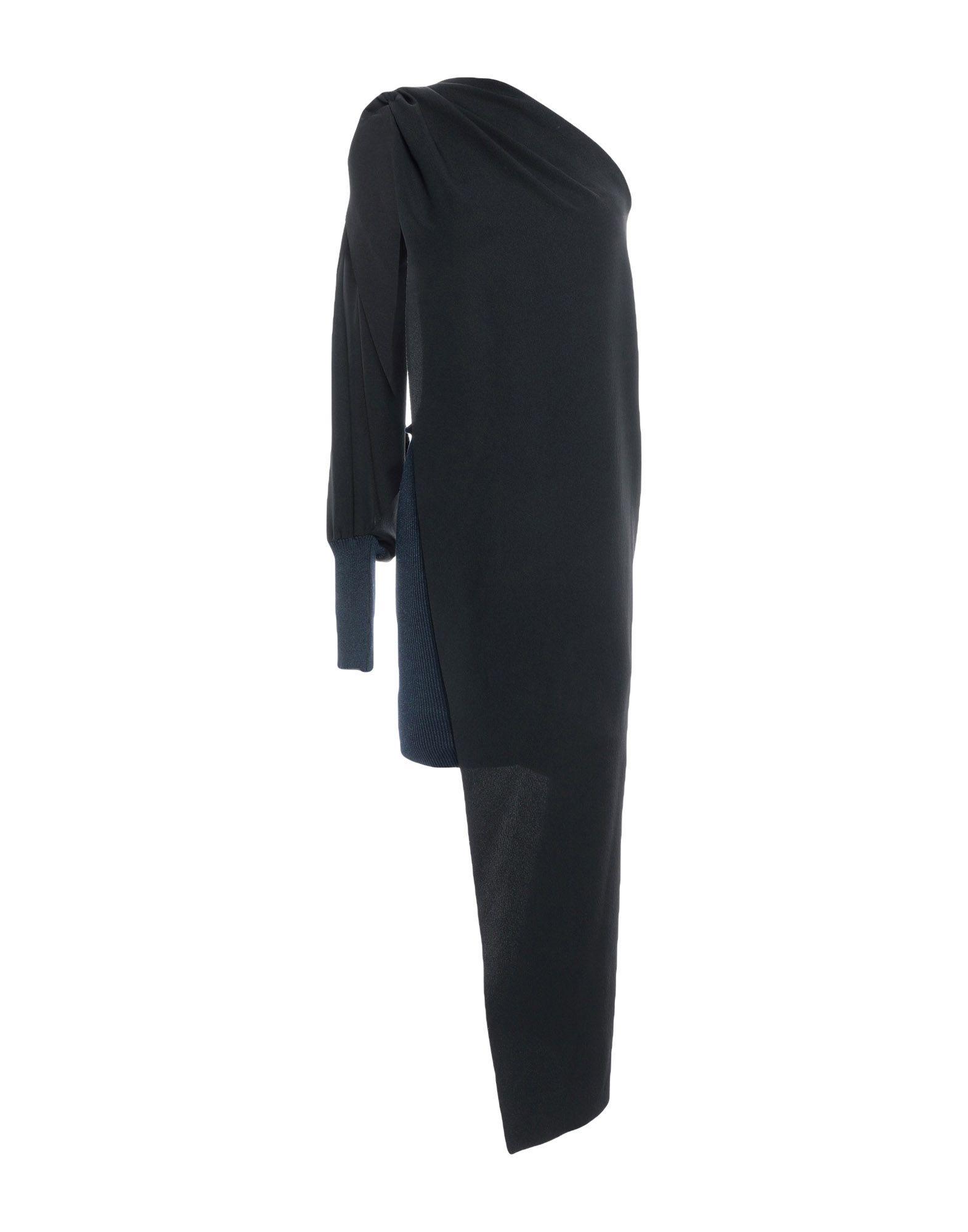 《期間限定セール中》ANDREAS KRONTHALER for VIVIENNE WESTWOOD レディース ミニワンピース&ドレス ダークブルー 2 シルク 100% / レーヨン / ポリエステル / ポリウレタン