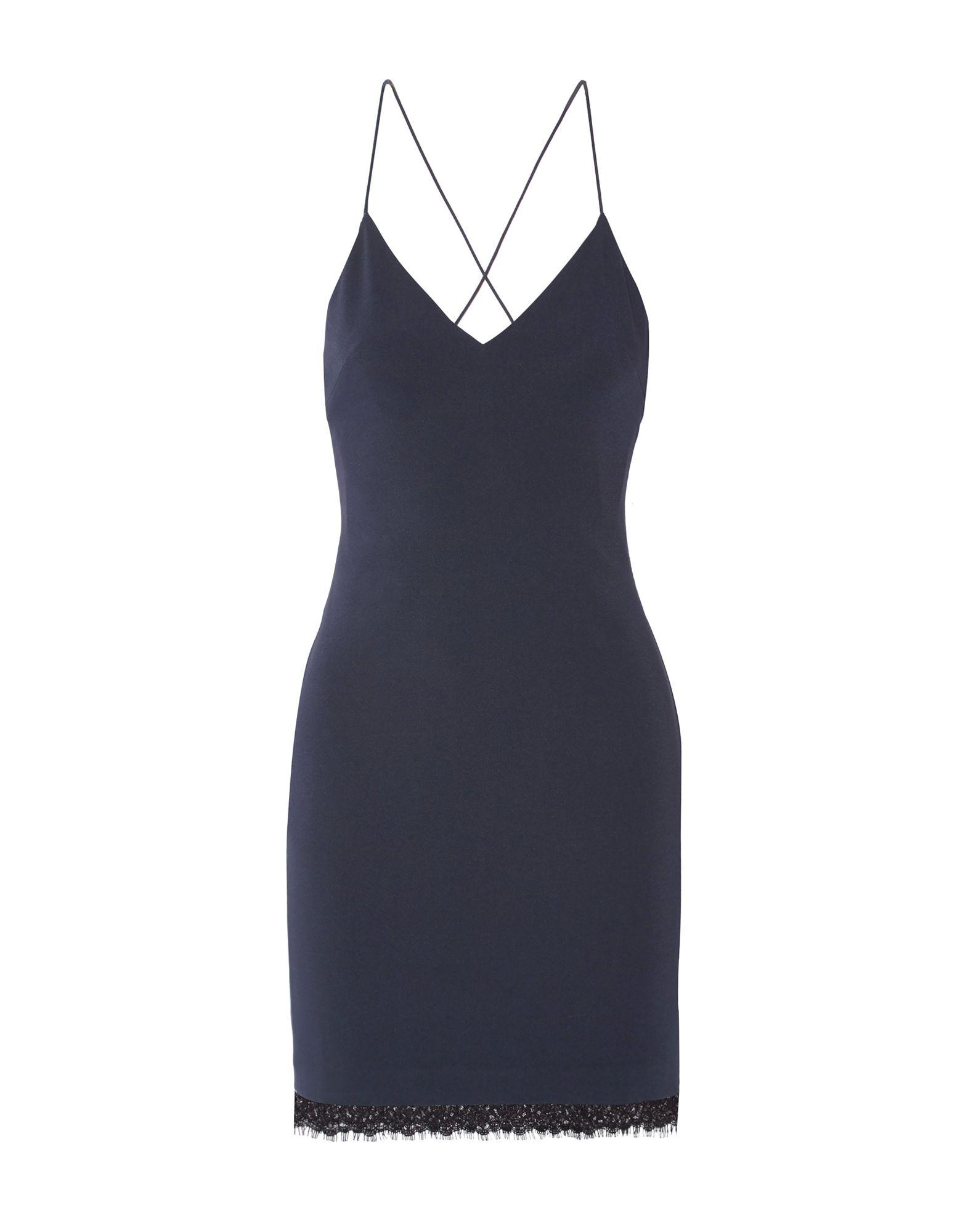 ALICE + OLIVIA Короткое платье платье без рукавов с кружевной вставкой на спинке