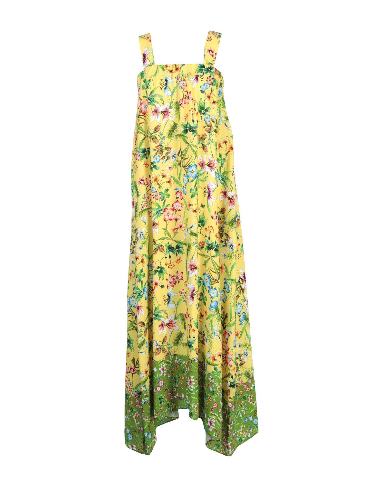 LE BISBETICHE by CAMICETTASNOB Damen Langes Kleid Farbe Gelb Größe 5