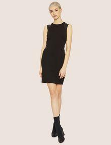 ARMANI EXCHANGE FAUX-LEATHER PANELED BODYCON Midi Dress Woman d