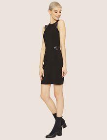 ARMANI EXCHANGE FAUX-LEATHER PANELED BODYCON Midi Dress Woman f