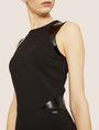 ARMANI EXCHANGE FAUX-LEATHER PANELED BODYCON Midi Dress Woman b