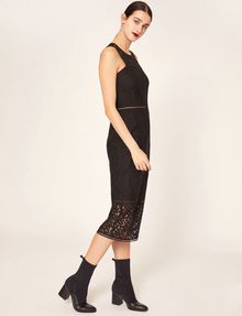 ARMANI EXCHANGE SHEER LACE MIDI DRESS Maxi Dress [*** pickupInStoreShipping_info ***] d