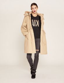 ARMANI EXCHANGE FAUX-FUR TRIMMED HOODED ANORAK Coat [*** pickupInStoreShipping_info ***] d
