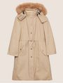 ARMANI EXCHANGE FAUX-FUR TRIMMED HOODED ANORAK Coat Woman r