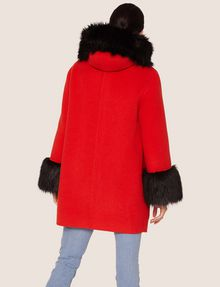 ARMANI EXCHANGE FAUX-FUR TRIMMED WOOL-BLEND COAT Coat [*** pickupInStoreShipping_info ***] e