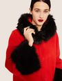 ARMANI EXCHANGE FAUX-FUR TRIMMED WOOL-BLEND COAT Coat [*** pickupInStoreShipping_info ***] a