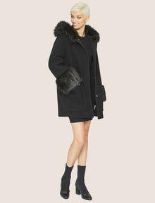 ARMANI EXCHANGE FAUX-FUR TRIMMED WOOL-BLEND COAT Coat [*** pickupInStoreShipping_info ***] d