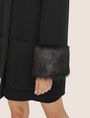 ARMANI EXCHANGE FAUX-FUR TRIMMED WOOL-BLEND COAT Coat [*** pickupInStoreShipping_info ***] b