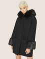 ARMANI EXCHANGE FAUX-FUR TRIMMED WOOL-BLEND COAT Coat [*** pickupInStoreShipping_info ***] f