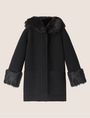 ARMANI EXCHANGE FAUX-FUR TRIMMED WOOL-BLEND COAT Coat [*** pickupInStoreShipping_info ***] r