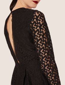 ARMANI EXCHANGE SHEER LACE FIT-AND-FLARE Mini Dress [*** pickupInStoreShipping_info ***] b