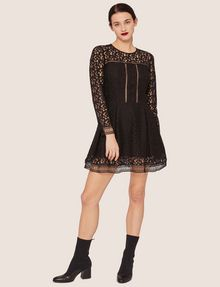 ARMANI EXCHANGE SHEER LACE FIT-AND-FLARE Mini Dress [*** pickupInStoreShipping_info ***] f