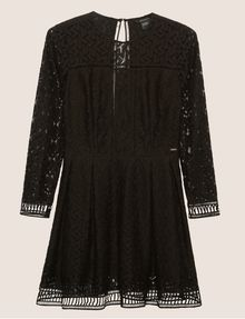 ARMANI EXCHANGE SHEER LACE FIT-AND-FLARE Mini Dress [*** pickupInStoreShipping_info ***] r