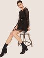 ARMANI EXCHANGE SHEER LACE FIT-AND-FLARE Mini Dress [*** pickupInStoreShipping_info ***] a