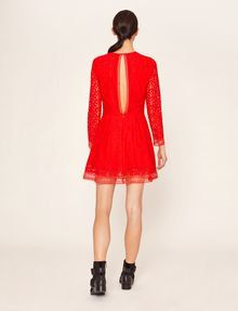 ARMANI EXCHANGE SHEER LACE FIT-AND-FLARE Mini dress [*** pickupInStoreShipping_info ***] e