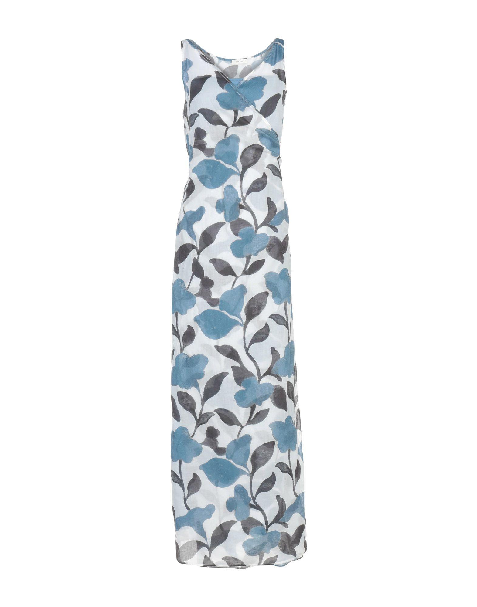《送料無料》ZHELDA レディース ロングワンピース&ドレス アジュールブルー 0 コットン 100%