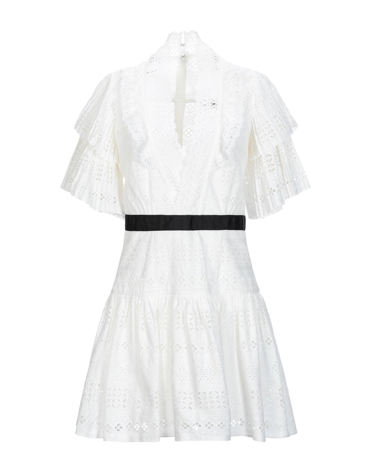 SELF-PORTRAIT Короткое платье ariete greenforce plus 2788 2 white green