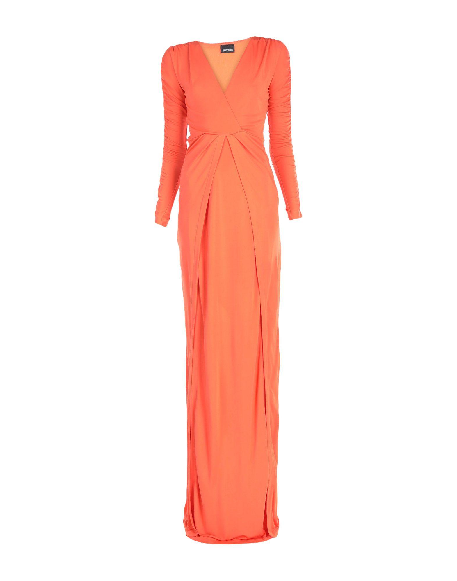 Длинное платье  Оранжевый,Черный цвета