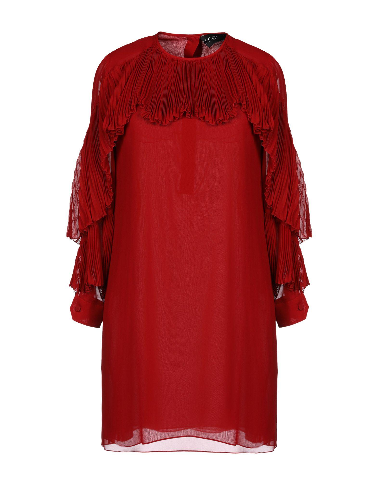 GUCCI Damen Kurzes Kleid Farbe Rot Größe 3