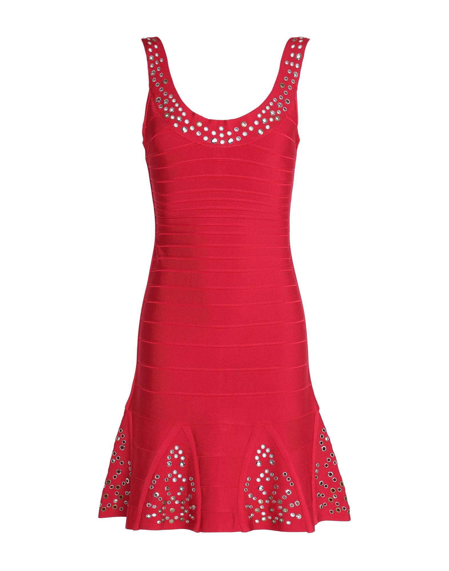 HERVÉ LÉGER Короткое платье hervé léger длинное платье
