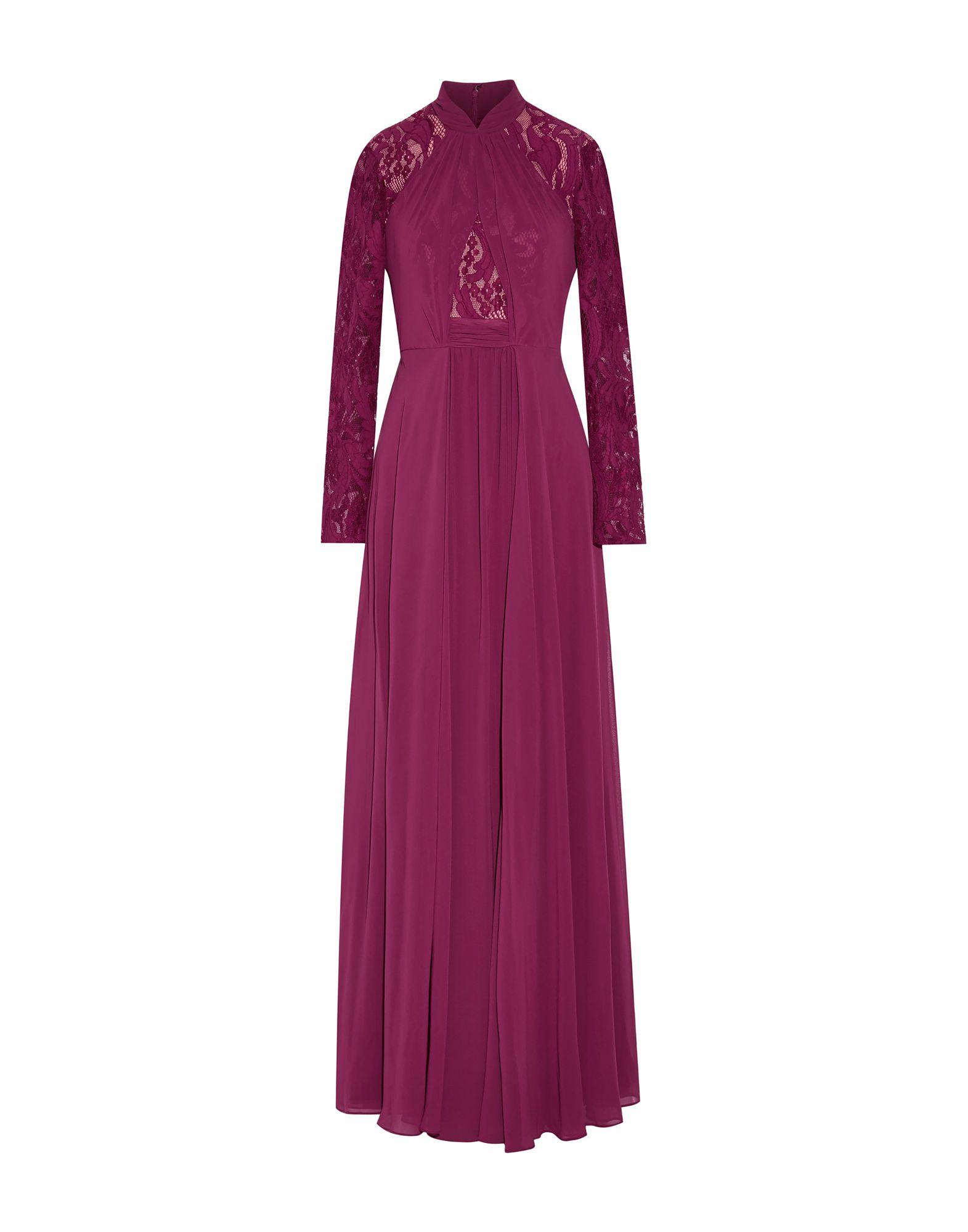 《送料無料》MIKAEL AGHAL レディース ロングワンピース&ドレス ガーネット 4 ポリエステル 100%
