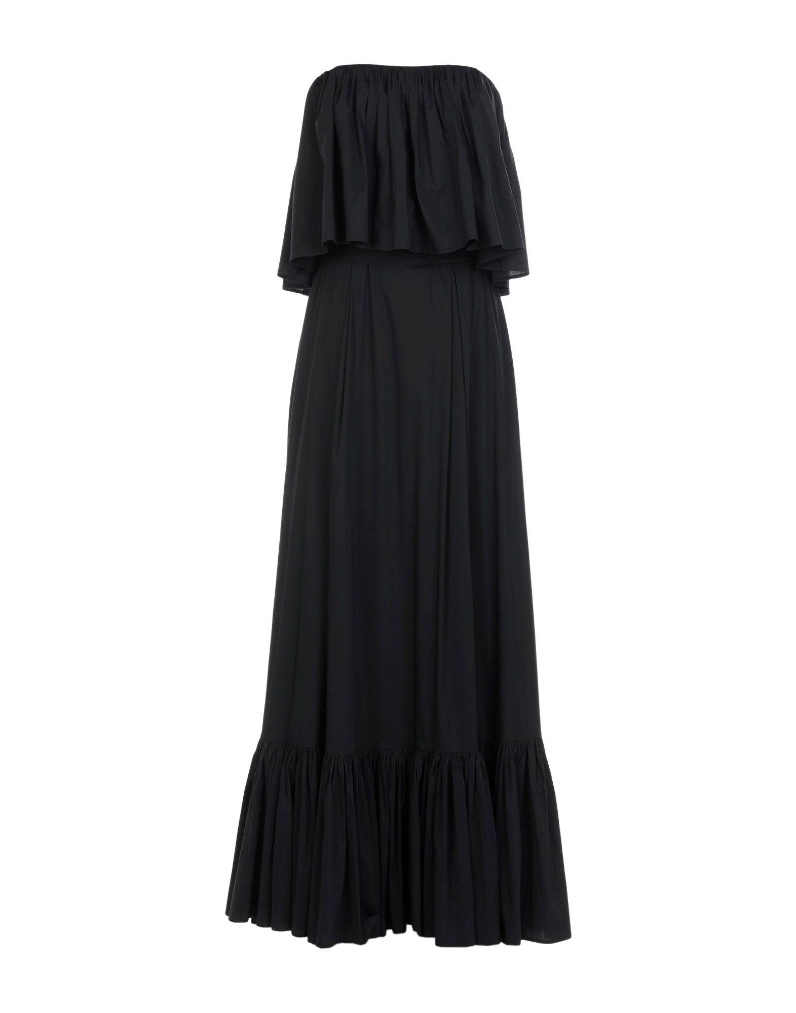 《送料無料》RALUCA MIHALCEANU レディース 7分丈ワンピース・ドレス ブラック S コットン 100%