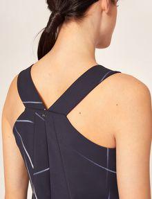 ARMANI EXCHANGE LINEAR STREAK PLEATED A-LINE DRESS Mini dress [*** pickupInStoreShipping_info ***] b