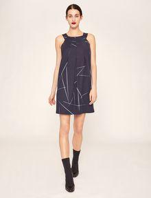 ARMANI EXCHANGE LINEAR STREAK PLEATED A-LINE DRESS Mini dress [*** pickupInStoreShipping_info ***] f