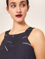 ARMANI EXCHANGE LINEAR STREAK PLEATED A-LINE DRESS Mini dress [*** pickupInStoreShipping_info ***] a